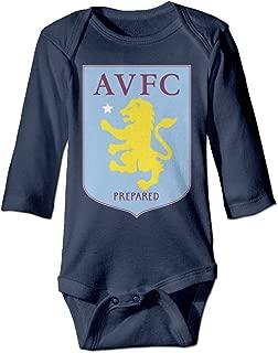 WUSSTEG Aston Villa Football Club Baby Boy Girls Infant Casual Romper