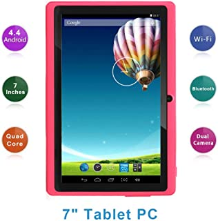 "Haehne 7"" Tablet PC, Google Android 4.4 Quad Core, 512MB RAM 8GB ROM, Cámaras Duales, Pantalla Táctil Capacitiva, WiFi, Bl..."