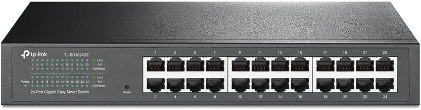 TP-Link 24-Port Gigabit Ethernet Easy Smart Managed Switch   Unmanaged Plus   Plug and Play   Desktop/Rackmount   Metal   Fanless   Limited Lifetime (TL-SG1024DE)
