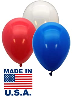GIFTEXPRES Pack of 72, Proudly Made in USA Patriotic Party Balloons/Red, White and Blue Patriotic Balloons/Patriotic Latex Balloons/4th of July Balloons/Memorial Day Party Balloons (Patriotic Color)