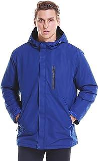 YGCLOTHES 2022 Podgrzewana kurtka z miękką powłoką, zimowa kurtka puchowa z kapturem USB, z 3 strefami grzewczymi ciepłe k...