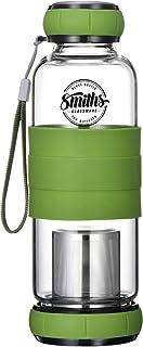 Vidrio de Boran alto templado con infusor de té de filtro Revolucionario de base revolucionario que permite una elaboración constante de la cerveza con una banda | Smith's Mason Jars
