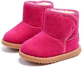 أحذية شتوية دافئة من الفرو للأطفال الصغار والأولاد والبنات أحذية ناعمة شتوية سنو أحذية قطيفة