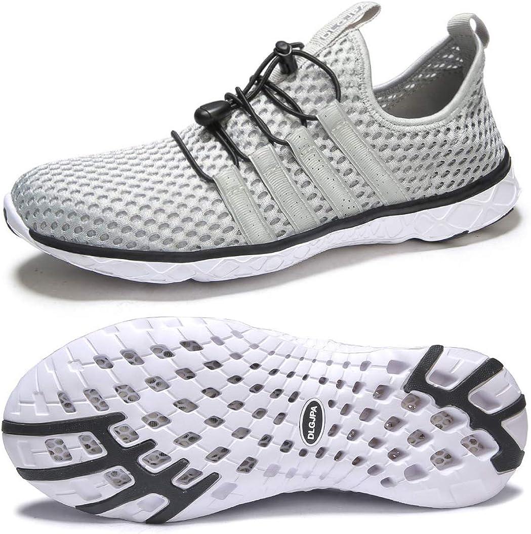 DLGJPA mart Men's Lightweight Quick Drying Athletic Water Shoes Aqua Fresno Mall