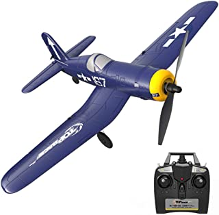 Top Race Rc Plane 4 Channel Remote Control Airplane Ready to Fly Rc Planes for Adults, Remote Control War Plane F4U Corsai...