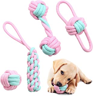 Juguete de Cuerda para Perros, Juguetes para Perros Indestructibles para Cachorros y Perros Pequeños, Juego de Juguetes In...
