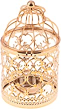 Homyl Vintage Bird Cage Metal Tealight Candle Holder Hanging Lanterns Candlestick for Wedding Home Table Decoration - A-Ro...
