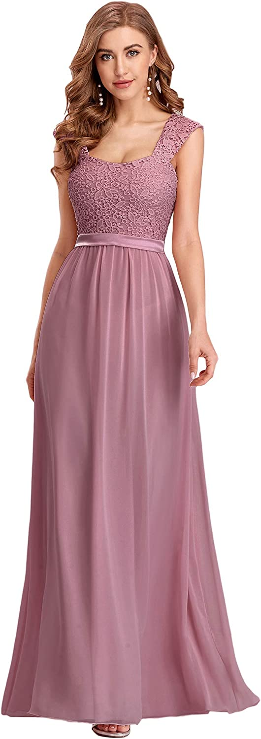 Ever-Pretty Women's A-Line Floral Lace Bridesmaid Dress Prom Party Dress 7704