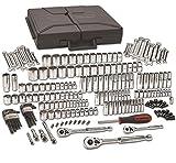 GEARWRENCH 1/4', 3/8' & 1/2' Drive Standard & Deep SAE/Metric Mechanics Tool Set 216 Pc., 6 & 12 Point - 80933