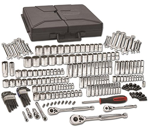 GEARWRENCH 216 Pc. 1/4', 3/8' & 1/2' Drive 6 & 12 Point Standard & Deep SAE/Metric Mechanics Tool Set - 80933