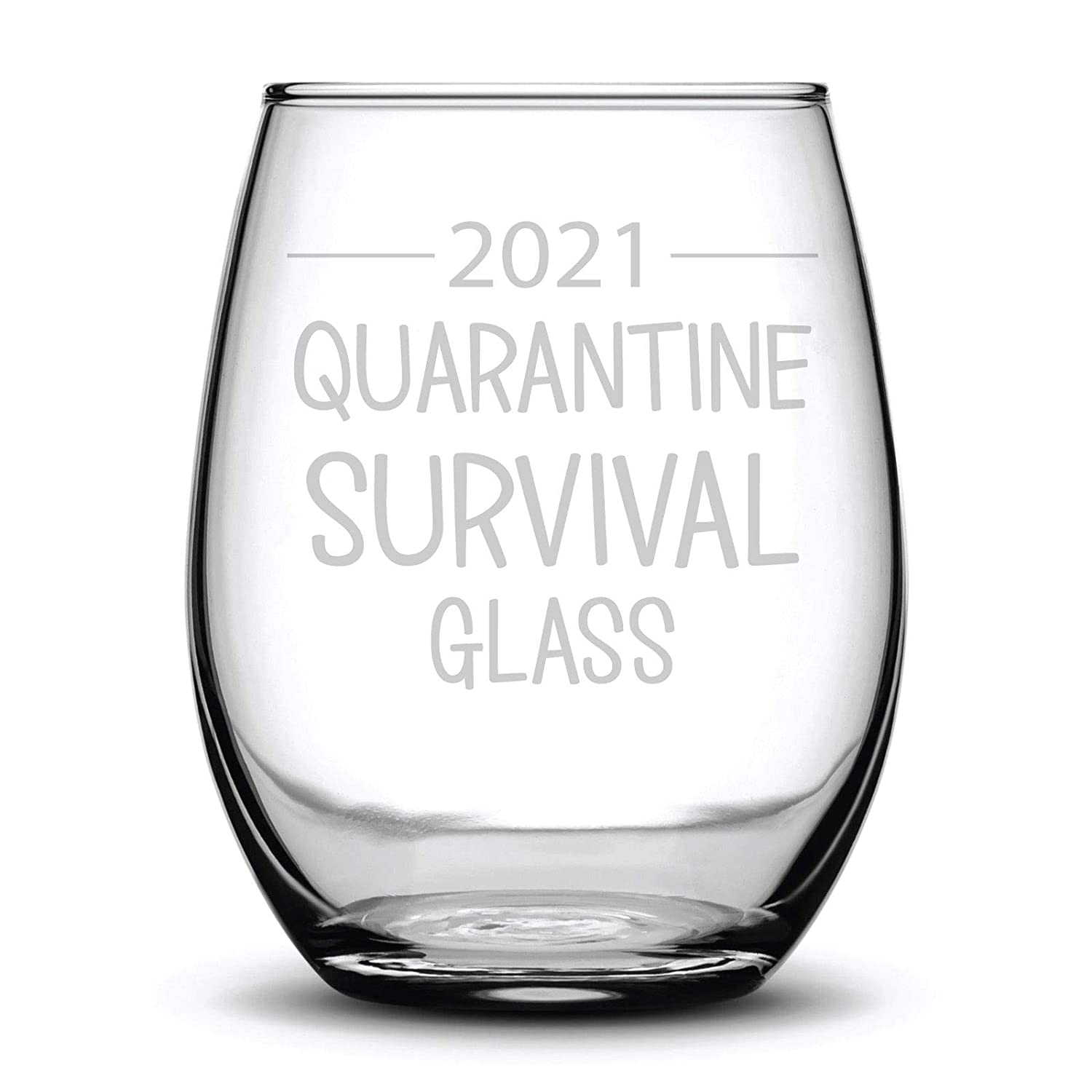 2021 Quarantine Survival Ranking TOP6 Max 53% OFF Glass Funny Etched Gift Wine Laser Fun