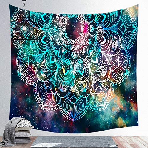 KHKJ Wall Hanging Mandala Tapestry Witchcraft Bedroom Living Room Boho Decor Polyester Hippie Chakra Tapestries A10 130cmx150cm