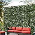 Windscreen4less Artificial Faux Ivy Leaf Decorative Fence Screen 6' x 10' Ivy Leaf Decorative Fence Screen