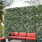 Windscreen4less Artificial Faux Ivy Leaf Decorative Fence Screen 6' x 10' Ivy Leaf Decorative Fence Screen