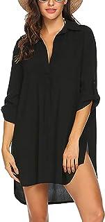 GALEI Saída de praia feminina, minivestido de biquíni, túnica, top