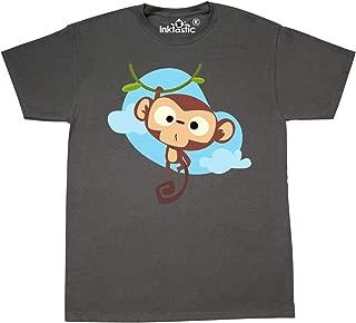inktastic Cute Monkey, Monkey Hanging from Tree, Baby Monkey T-Shirt