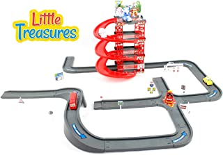 Little Treasures Transformable Robot Car Track Set, 3 + Age