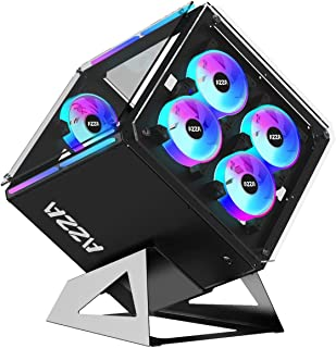 AZZA CSAZ-802F Cube CASE w/DRGB Lighting and Tempered Glass,black