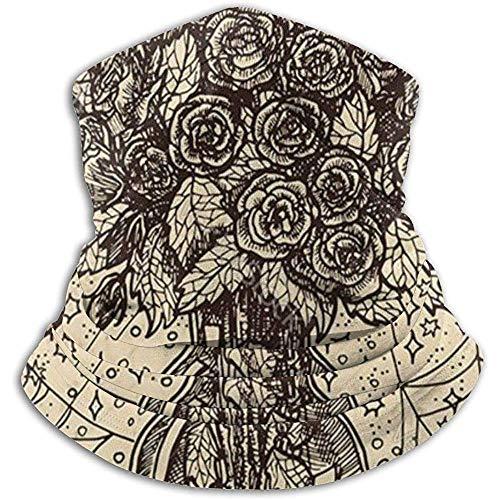 Kenice Neck Warmer Bouquet Vase Mit Rosen Neck Gaiter Tube,Ear Warmer Stirnband&Gesichtsmaske Ultimative Thermische Retention,Vielseitigkeit&Stil