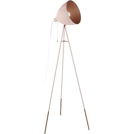 Eglo 49039 Lampe Sur Pied, Acier, 60 W, Pastell Apricot, Kupfer