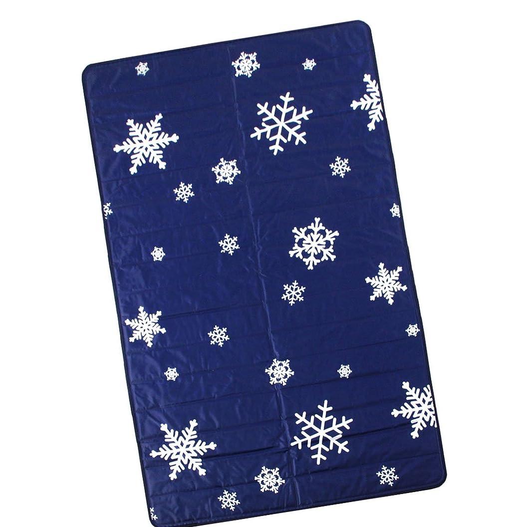 ファントムスラダムコカインタンスのゲン 塩で冷やす 瞬間冷却 ひんやりマット 敷きパッド シングル 90×140cm 完全防水 エコ仕様 スノー柄 19000003 04AM 【62639】