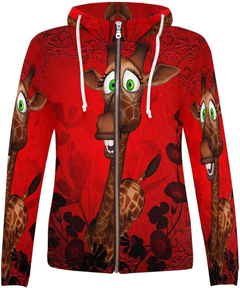 discount InterestPrint Women's All Over Print Japan Maker New Hoodie and Big Pocket with