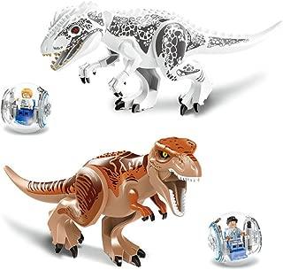 Leoie Jurassic World Dinosaurs Toys Model Puzzle Assembling Blocks for Kids Educational Gifts 1PCS (Random Color)