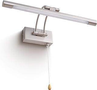 MantoLite Lampa ścienna 8 W, metalowa lampa łazienkowa nad
