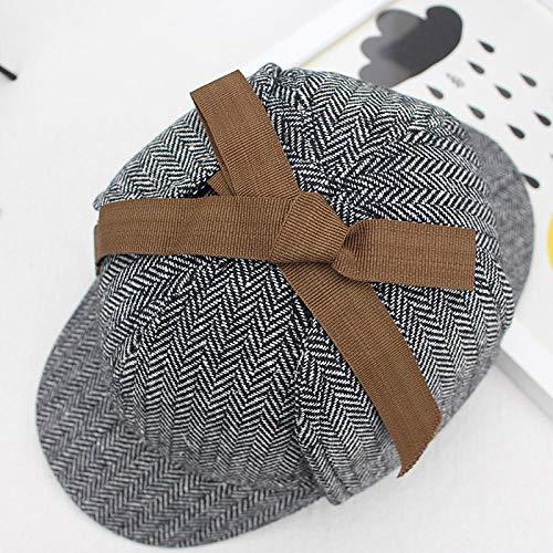 TIEDAN Detective Sherlock Alrededor de Holmes con el Mismo Papel de Sombrero de Caza de Ciervos Que bendice el Sombrero de Detective para Hombres y Mujeres-Grau_52-55CM
