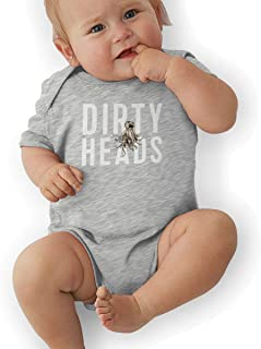 Dirty Heads Baby Boys Girls Short Sleeve Bodysuits Rompers Outfits 0-48 Months