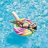 MICOKY Fila Flotante Inflable Protección del Medio Ambiente Piruleta de PVC Gruesa Cama Flotante de Agua Inflable Playa Silla de salón Perezosa 220 * 150