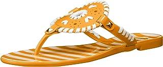 Women's Striped Georgica Jelly Flat Sandal