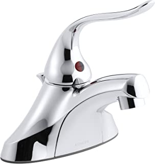 """KOHLER K-15583-F5-CP Coralais Single-Control Centerset Lavatory Faucet with Pop-Up Drain, 1.5 gpm Spray and 5"""" Lever Handl..."""