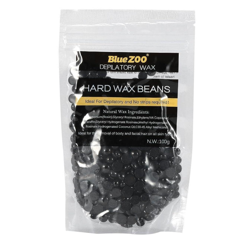 主流安心パノラマワックス脱毛ワックスヒーター+ 4 x 100g異なるワックス豆+ 10個ワックススティックプロフェッショナルワックス脱毛セット(黒)
