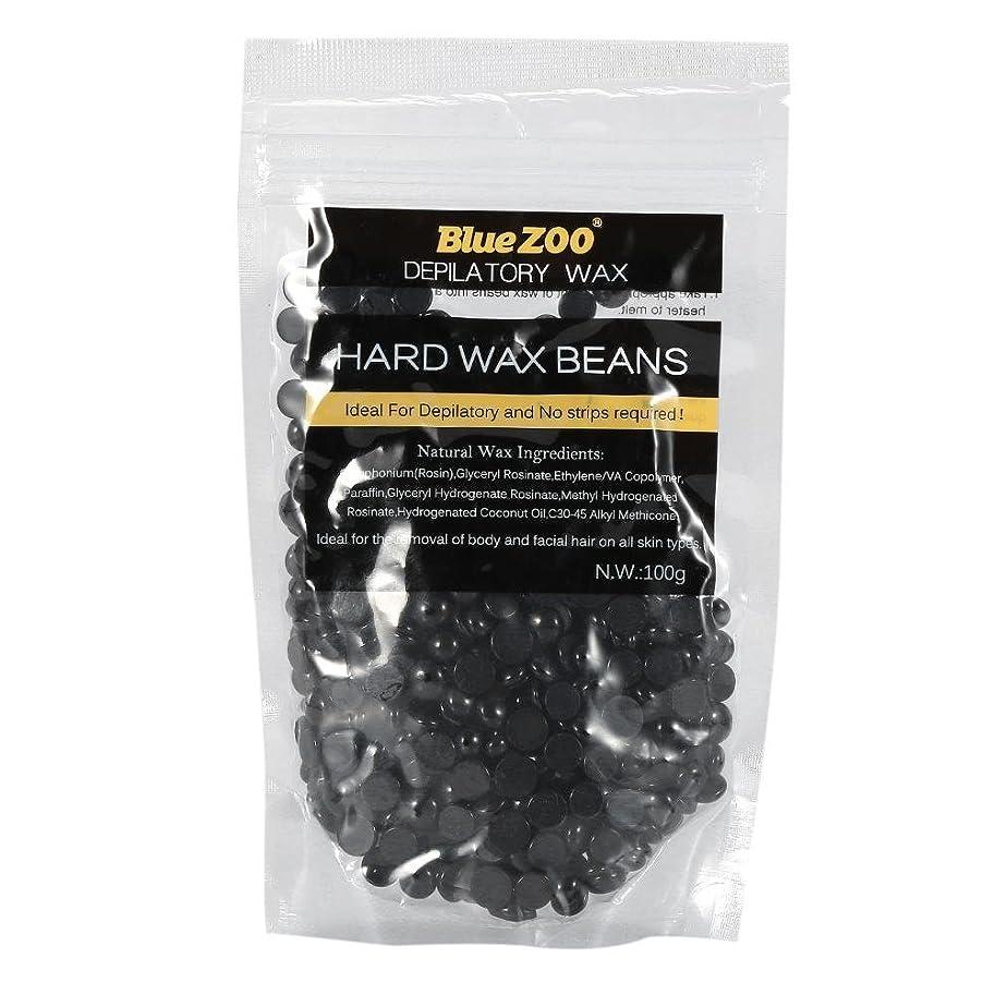 運ぶ最大のツインワックス脱毛ワックスヒーター+ 4 x 100g異なるワックス豆+ 10個ワックススティックプロフェッショナルワックス脱毛セット(黒)