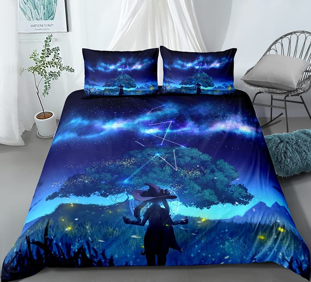 BXINZQ 3-Piece Quilt Cover for Genshin Magic 3D unisex Limited price sale Mona Impact Ani