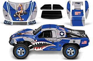 AMR Racing RC Graphics kit Sticker Decal Compatible with Traxxas Slash 1/10 #58034 and Slayer 1/10 #59074 - P-40 Warhawk - Blue
