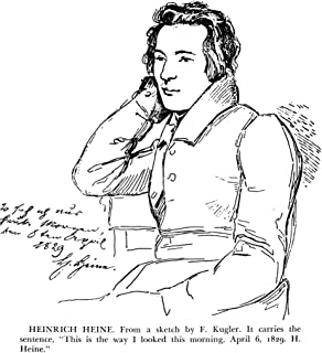 Heinrich Heine (1797-1856) Ngerman Poet And Critic Drawing 1829 By F Kugler Including The Inscription This Is The Way I Lo...