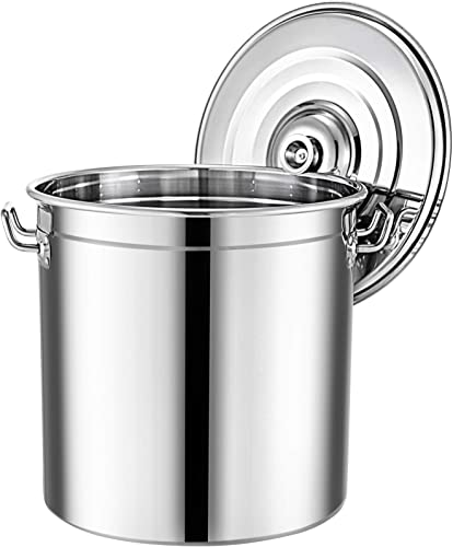 lowest Mophorn Brew kettle Stockpot with Lid Stainless Steel popular Bot Brewing Home Brewing for Beer Brewing, Maple Syrup, Stainless Steel Stock Pot Cookware high quality (100 Quart) sale