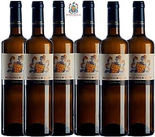 SEÑORÍO DE VALEI Vino blanco - Albariño Denominación de Origen Rías Baixas - Producto Gourmet - Vino bueno para regalo - vino gallego Volumen de alcohol 12.5 º- caja de vino 6 botellas x 75cl = 450cl