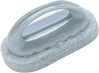 ARRIVEOK إسفنجة لتنظيف المطبخ فرشاة تنظيف سحرية مقبض وعاء فرك وسادات المنزل (أزرق أزرق)