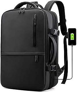 Mochila de Viaje, Trabajo, o Estudio, Equipaje de Mano Aprobada para Transporte Aéreo, Maleta de Cabina, Mochila para Viaje Resistente al Agua y con Puerto de Carga USB, (Modelo 1 Negro)