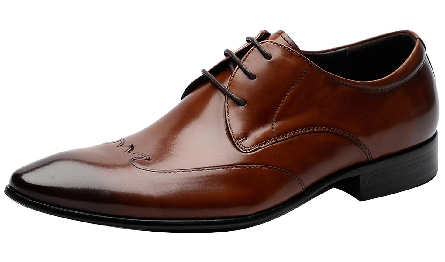 Mens Dress Shoes Formal Oxfords Formal Leather Brogue Derby Shoes - Men Wedding Shoes