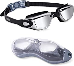 aegend Swim Goggles, Swimming Goggles No Leaking Anti Fog UV Protection Triathlon Swim Goggles with Free Protection Case for Adult Men Women Youth Kids Child, Sliver …