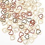 100pcs Heart Circle Enamel Charms Pendants Beads Mother's Day Hawaii Style Dangle Accessories for Valentine's Day DIY Craft Necklace Bracelet Jewelry Making