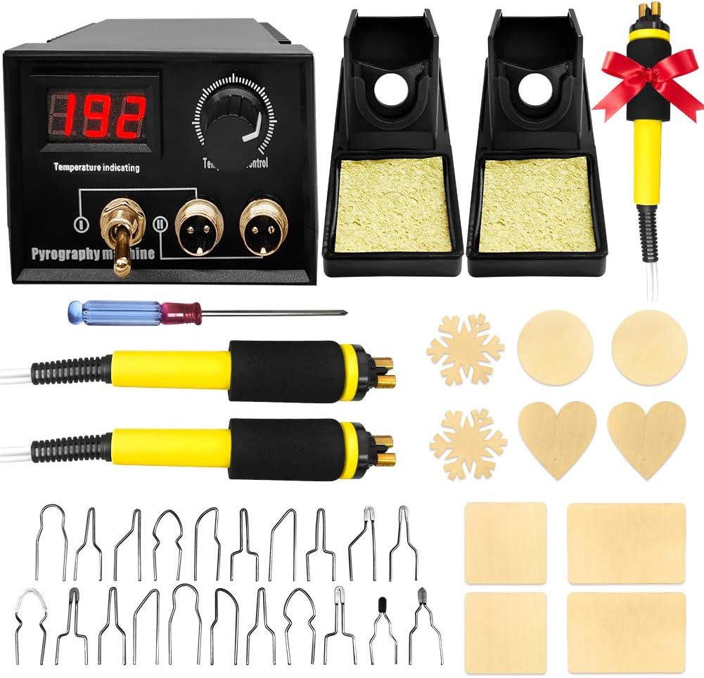 Wood Burning Kit Temperature Display 60W Adjustable Free shipping / New Digital Max 73% OFF Pyr