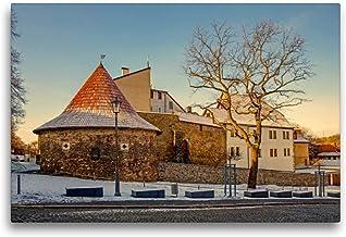 Premium textilduk 75 cm x 50 cm tvär, ett motiv från kalendern potthals i Saale-Orla-cirkeln | väggbild, bild på kil ram, ...