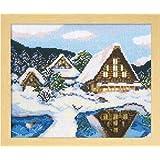オリムパス製絲 ししゅうキット「雪の白川郷」 No.7389