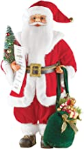 Collections Etc Realistic Santa Claus Christmas Doll, 18 inch Statue, Festive Home Decoration