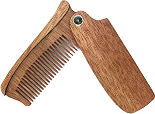 Have Fun Gifts Wooden Made Men and Women Folding Comb Pocket Size Hair and Beard Wood Folding Comb